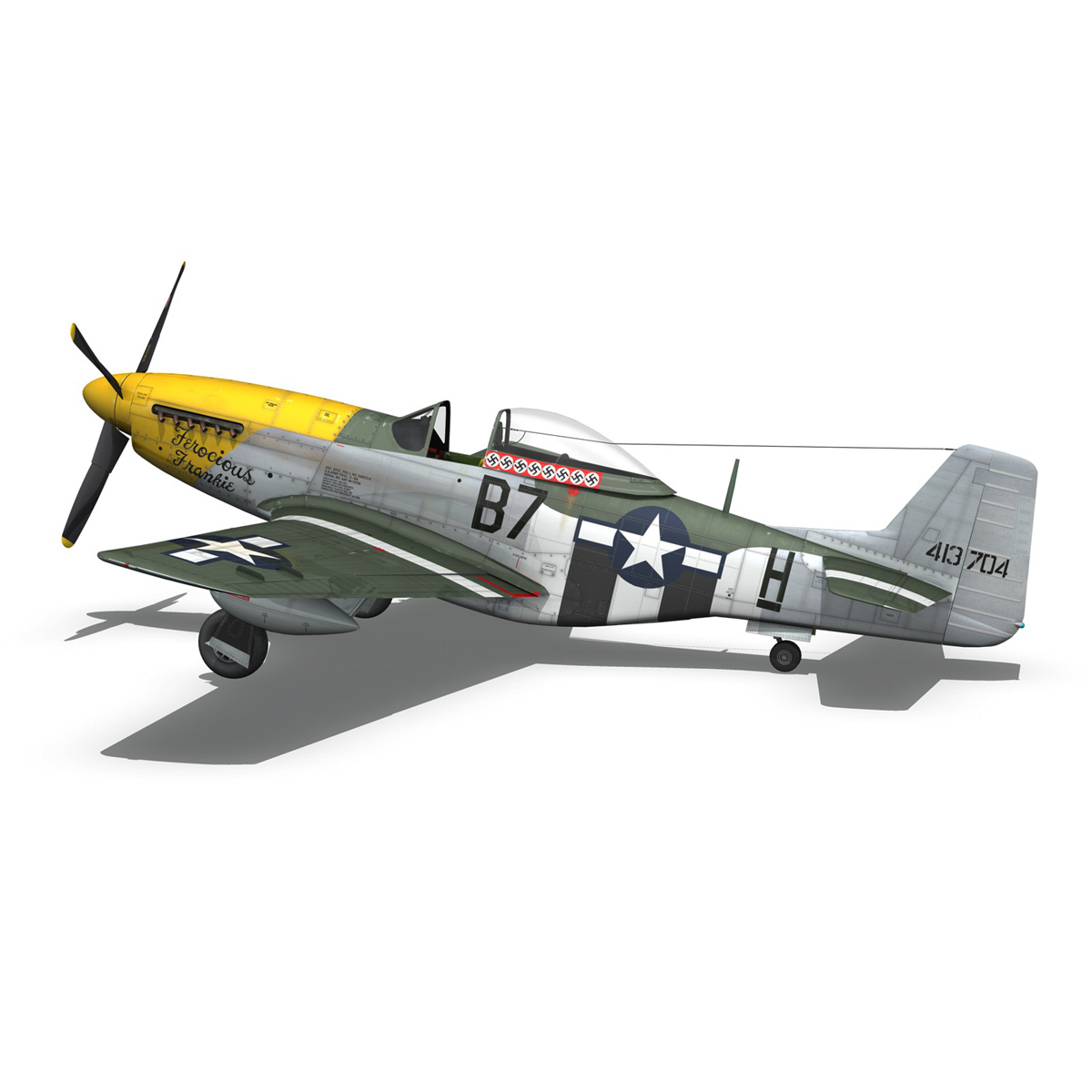 north american p-51d mustang – ferocious frankie 3d model fbx c4d lwo obj 269496