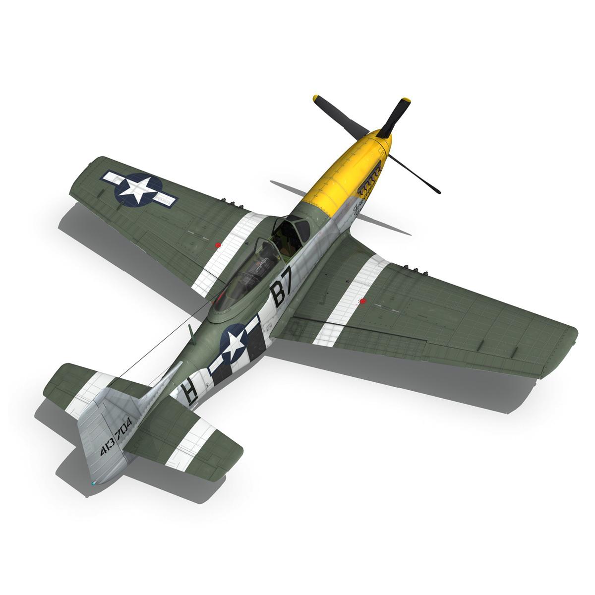 north american p-51d mustang – ferocious frankie 3d model fbx c4d lwo obj 269497