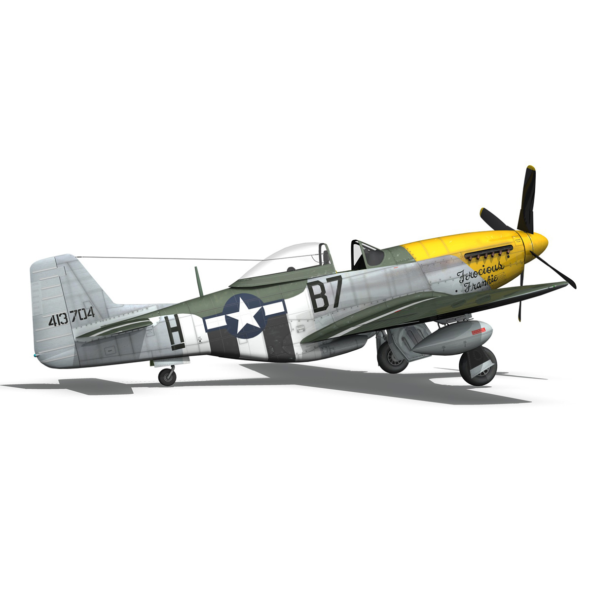 north american p-51d mustang – ferocious frankie 3d model fbx c4d lwo obj 269498