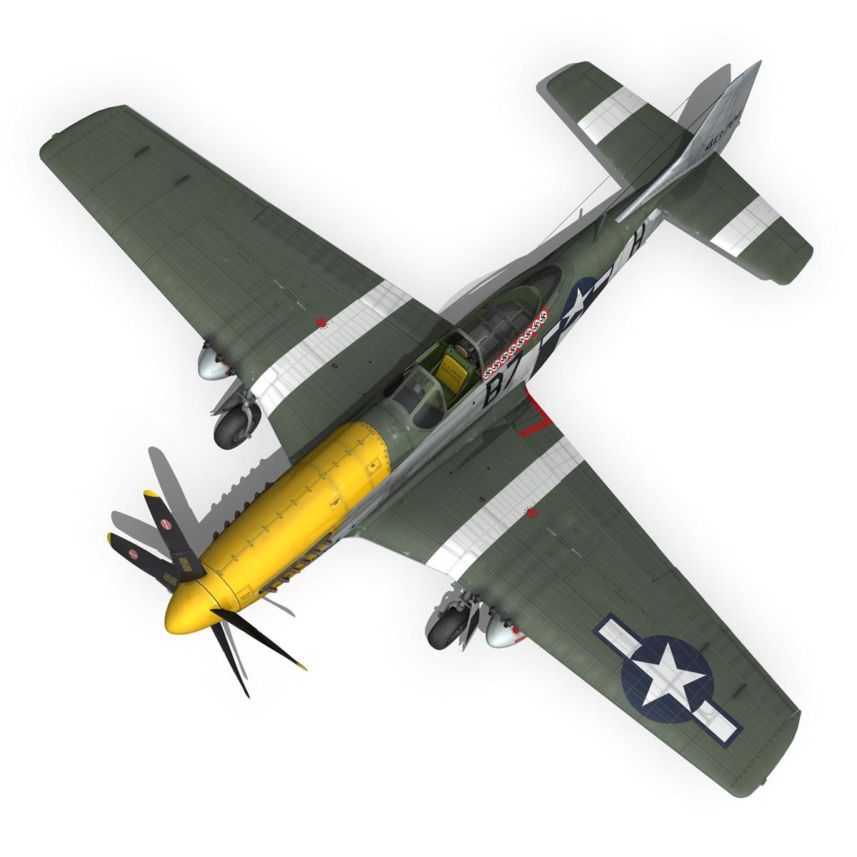 north american p-51d mustang – ferocious frankie 3d model fbx c4d lwo obj 269500