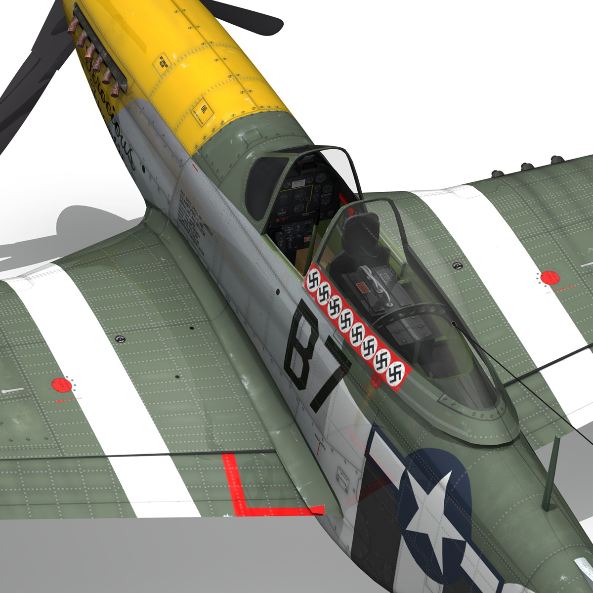 north american p-51d mustang – ferocious frankie 3d model fbx c4d lwo obj 269501