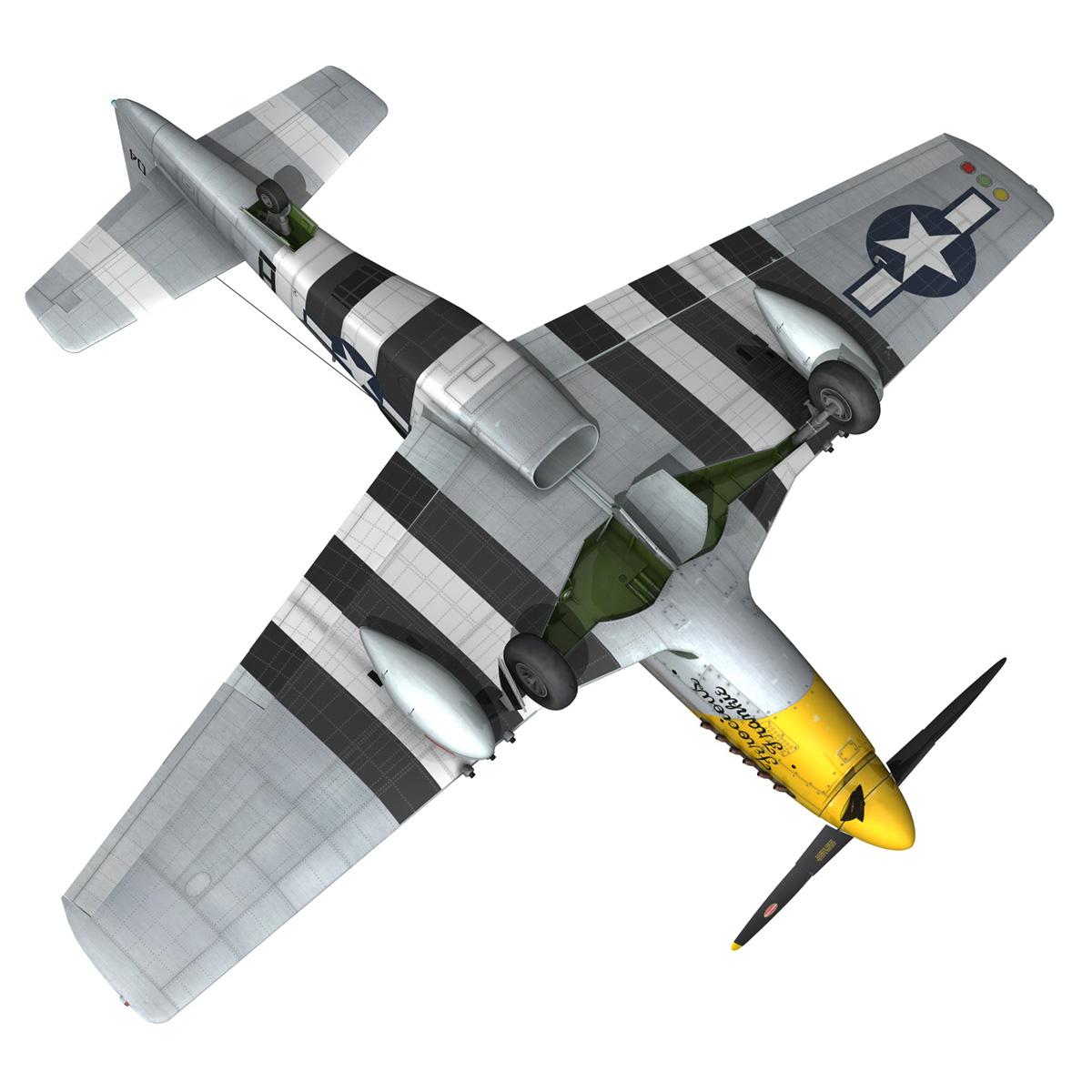 north american p-51d mustang – ferocious frankie 3d model fbx c4d lwo obj 269502