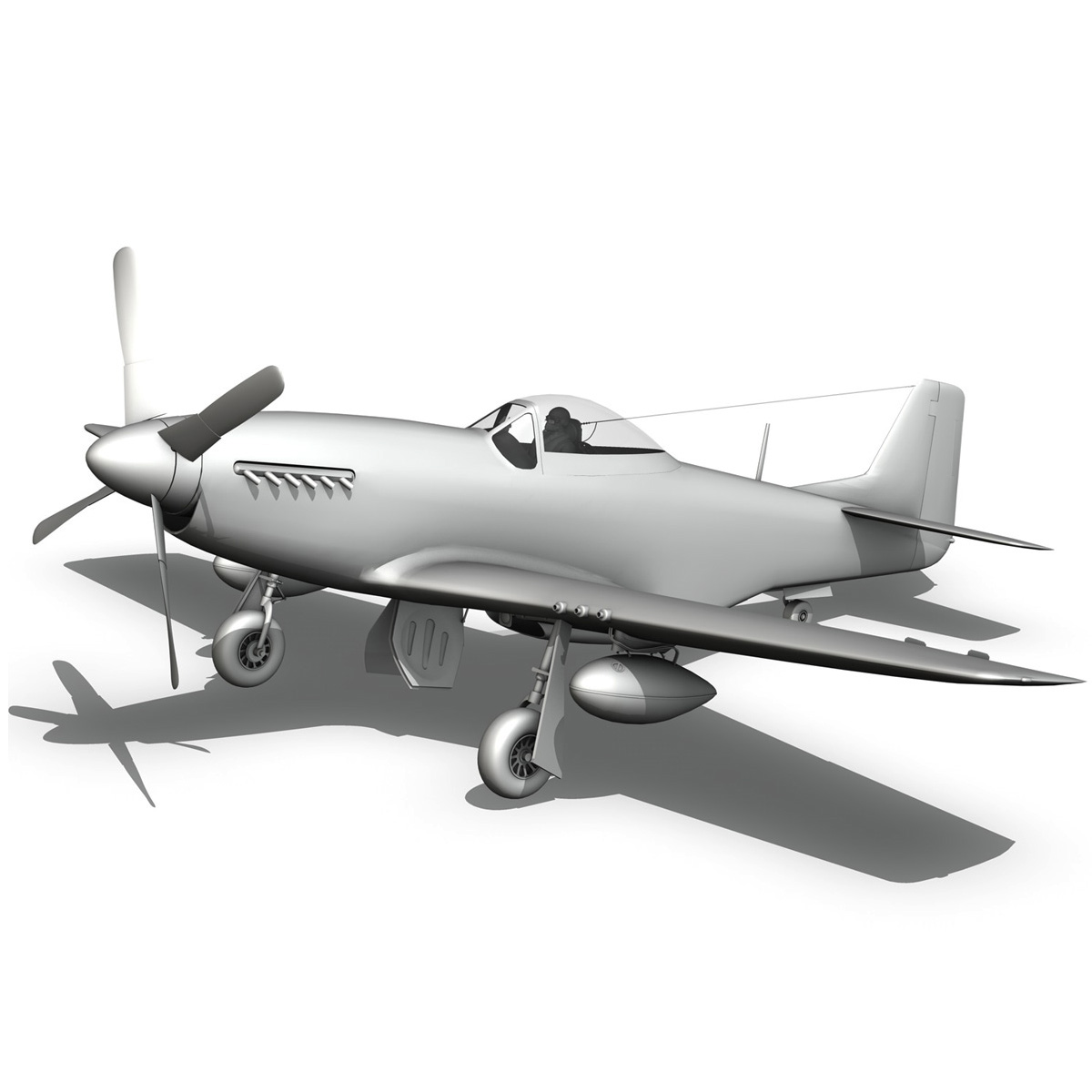 north american p-51d mustang – ferocious frankie 3d model fbx c4d lwo obj 269503