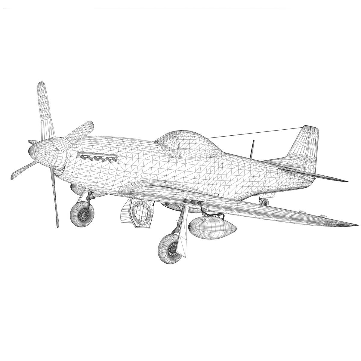 north american p-51d mustang – ferocious frankie 3d model fbx c4d lwo obj 269504
