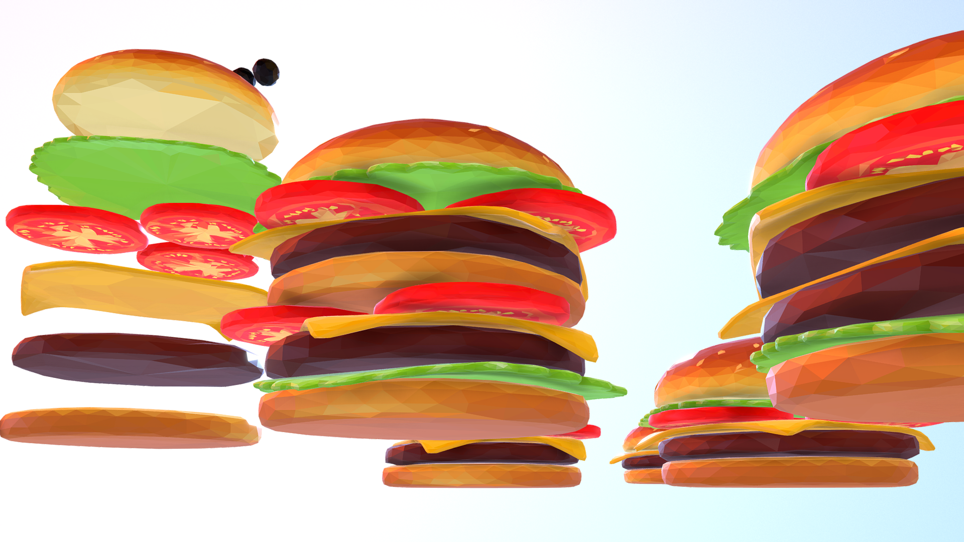 lowpolyart hamburger cheeseburger graditelj 3d model 3ds max fbx jpeg jpg ma mb tekstura obj 269556