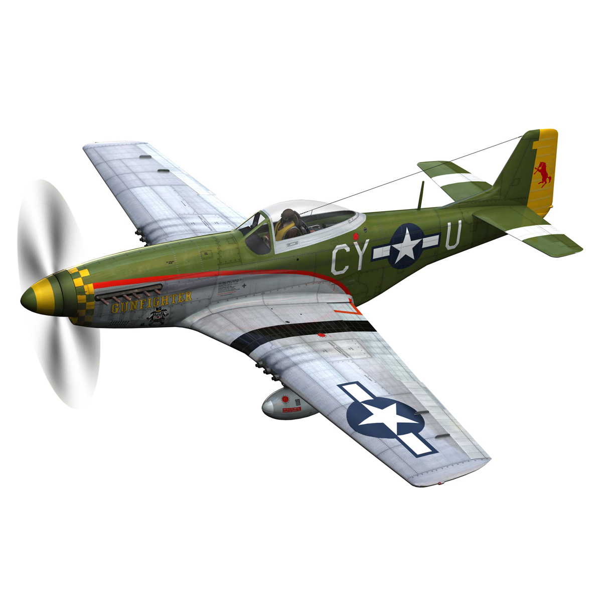 north american p-51d mustang – gunfighter 3d model fbx c4d lwo obj 269571