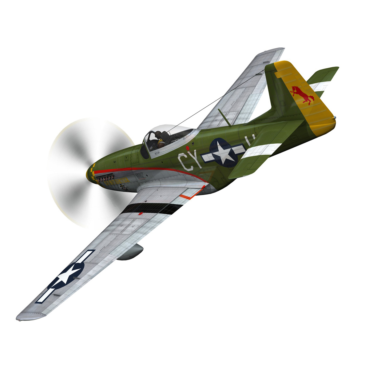 north american p-51d mustang – gunfighter 3d model fbx c4d lwo obj 269572
