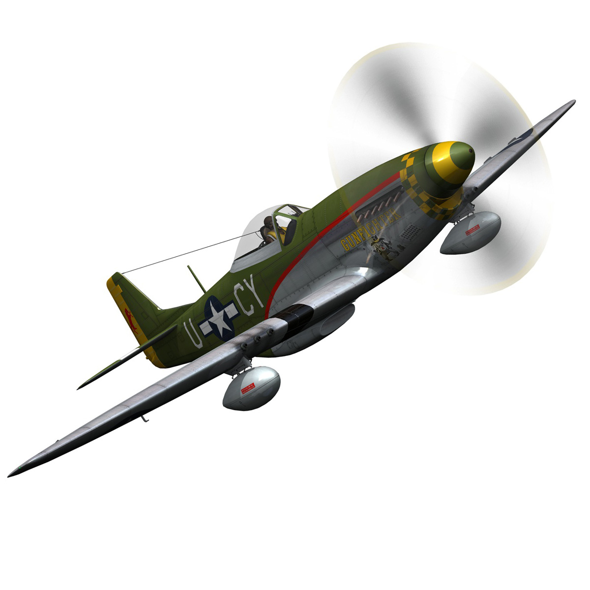 north american p-51d mustang – gunfighter 3d model fbx c4d lwo obj 269576