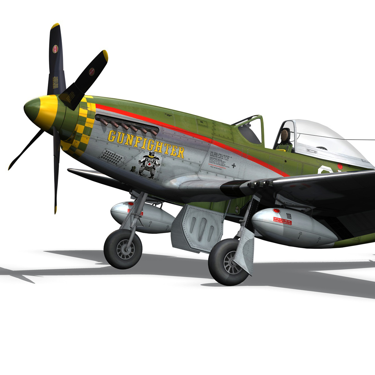 north american p-51d mustang – gunfighter 3d model fbx c4d lwo obj 269578