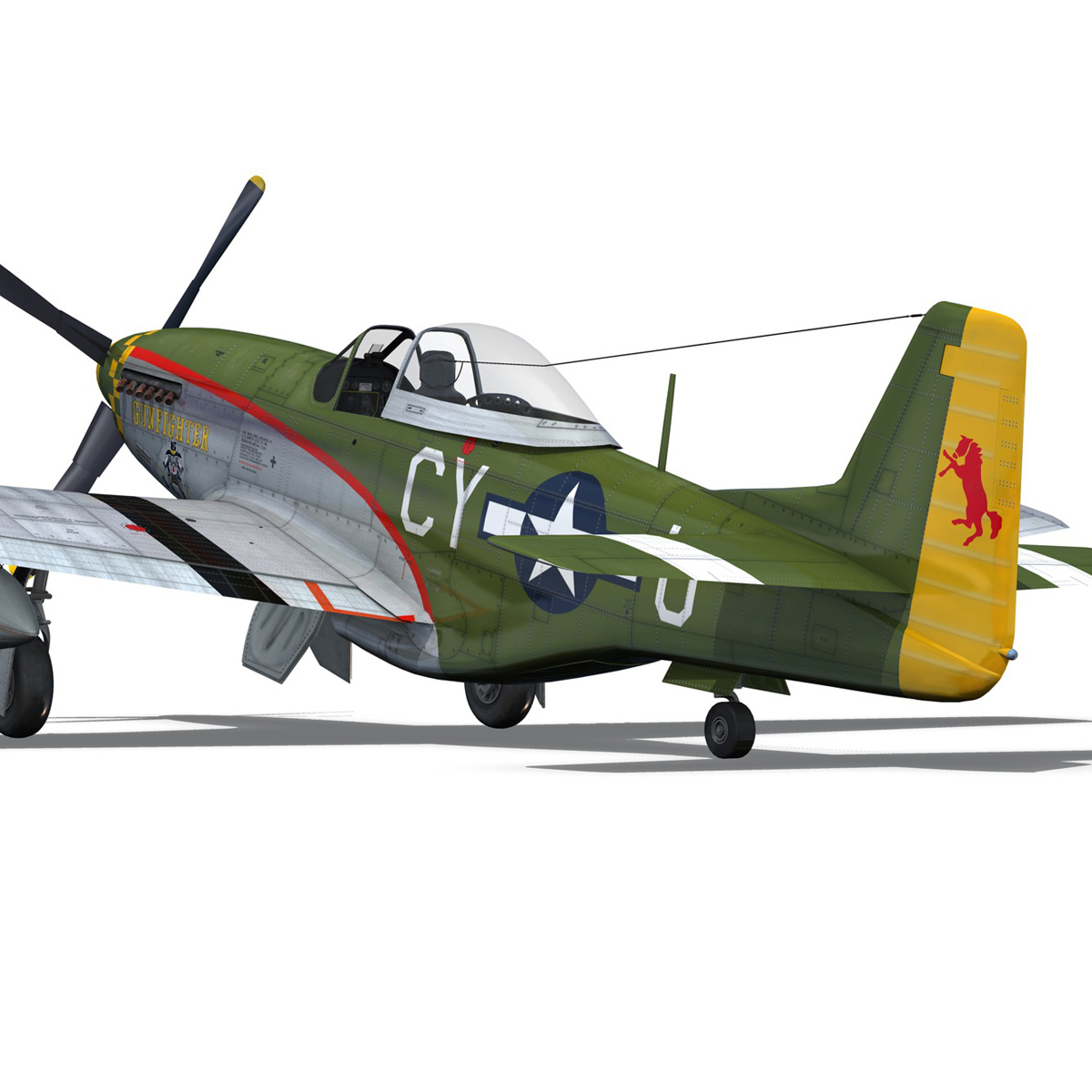 north american p-51d mustang – gunfighter 3d model fbx c4d lwo obj 269580