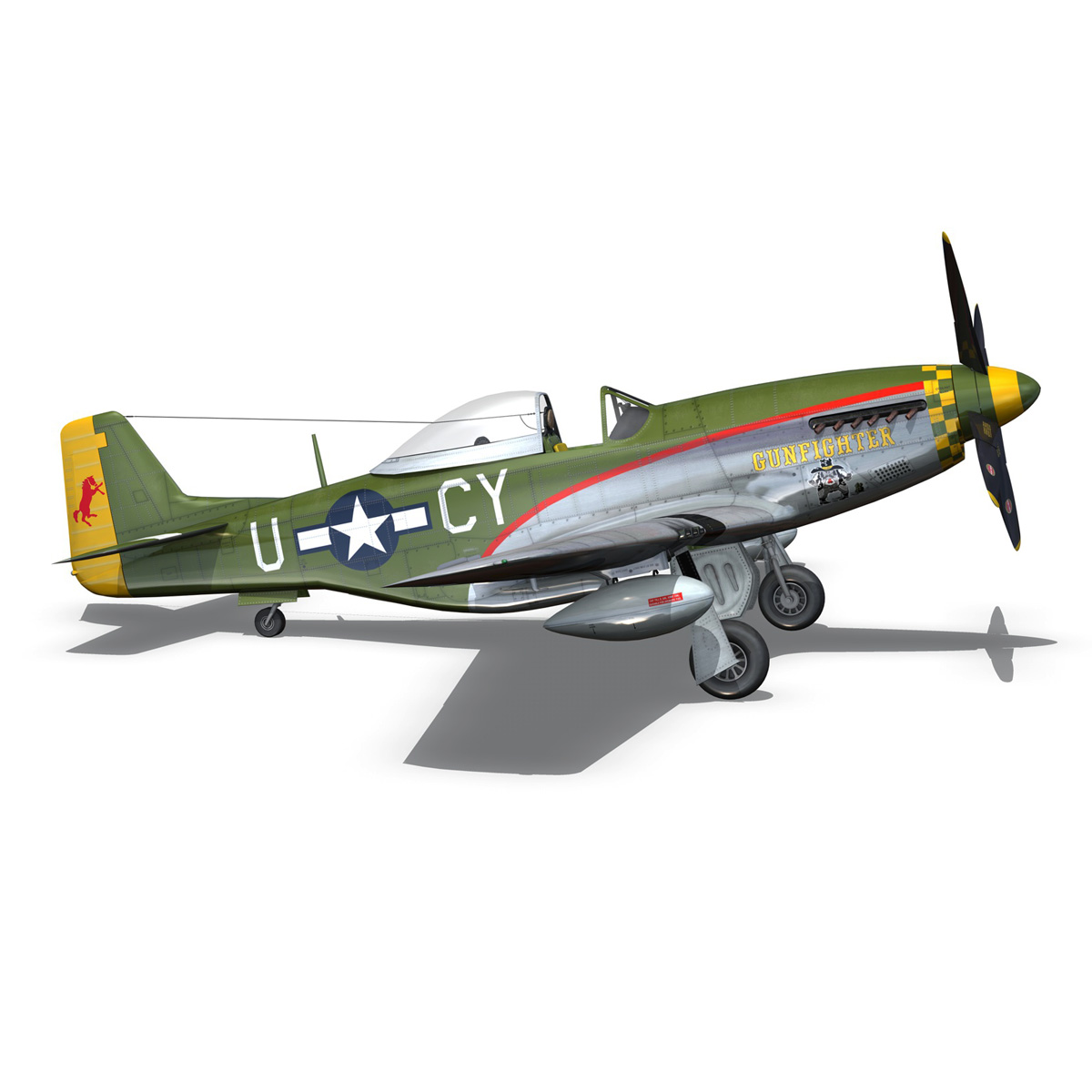 north american p-51d mustang – gunfighter 3d model fbx c4d lwo obj 269581