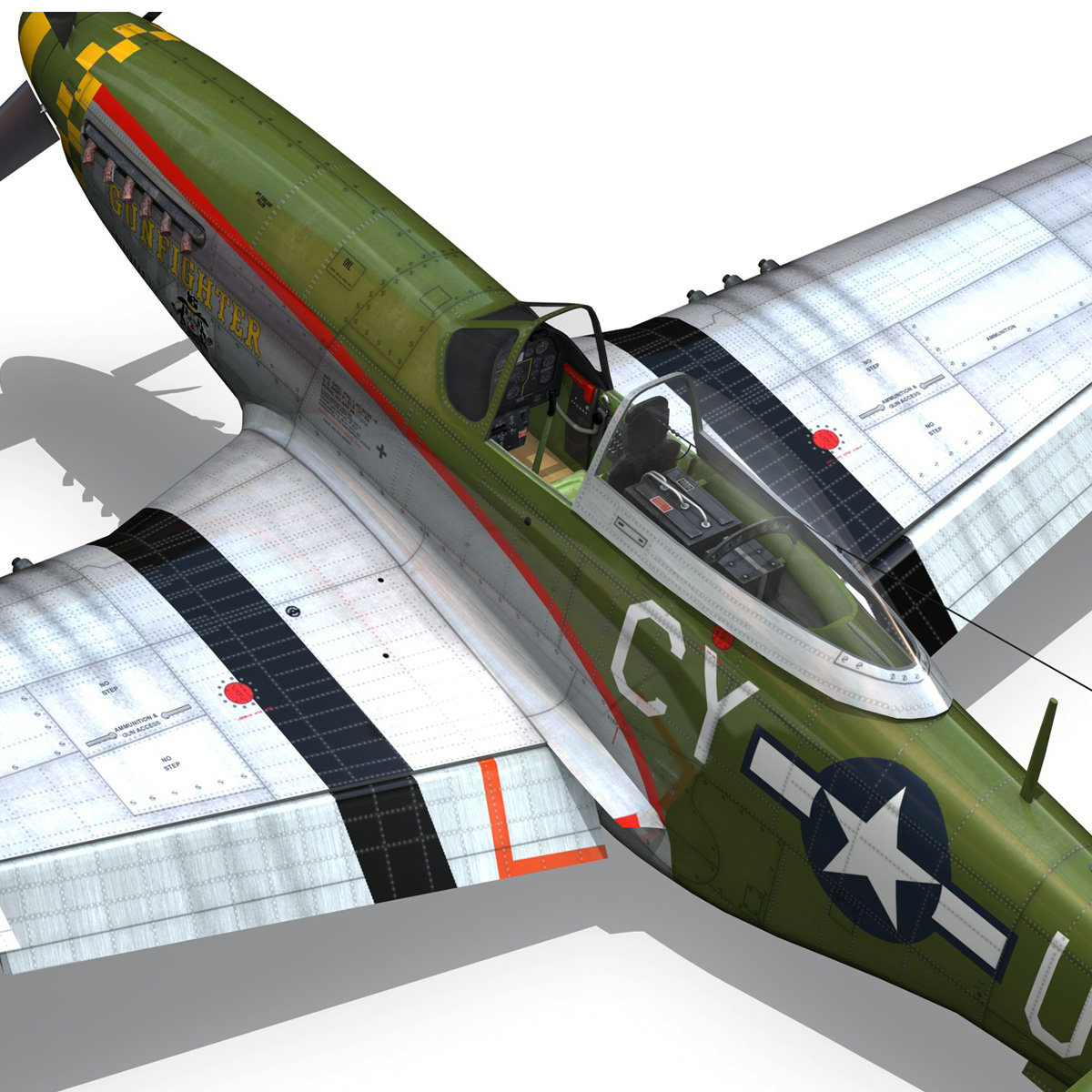 north american p-51d mustang – gunfighter 3d model fbx c4d lwo obj 269584