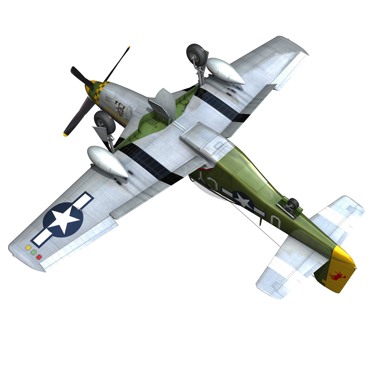 north american p-51d mustang – gunfighter 3d model fbx c4d lwo obj 269585