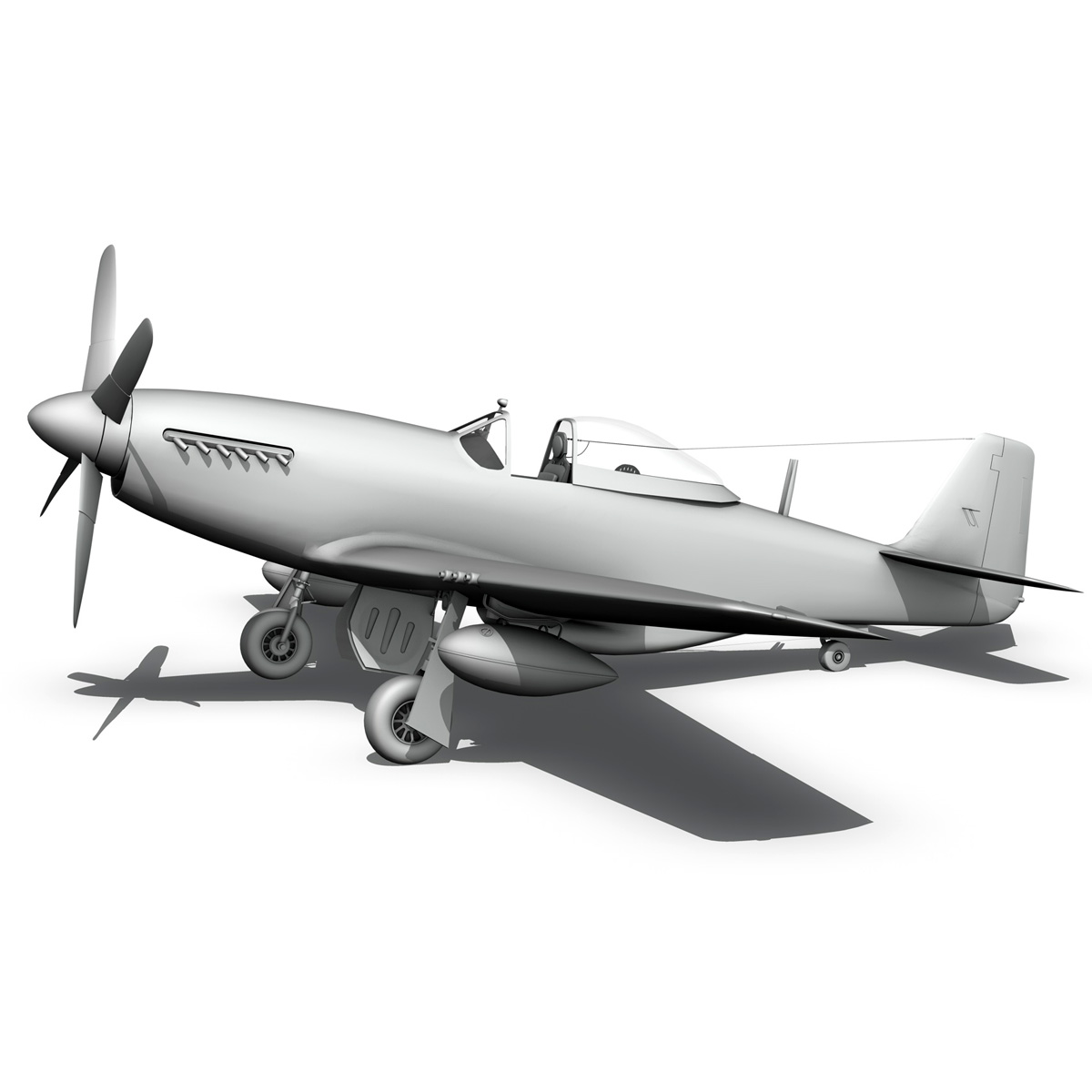 north american p-51d mustang – gunfighter 3d model fbx c4d lwo obj 269587