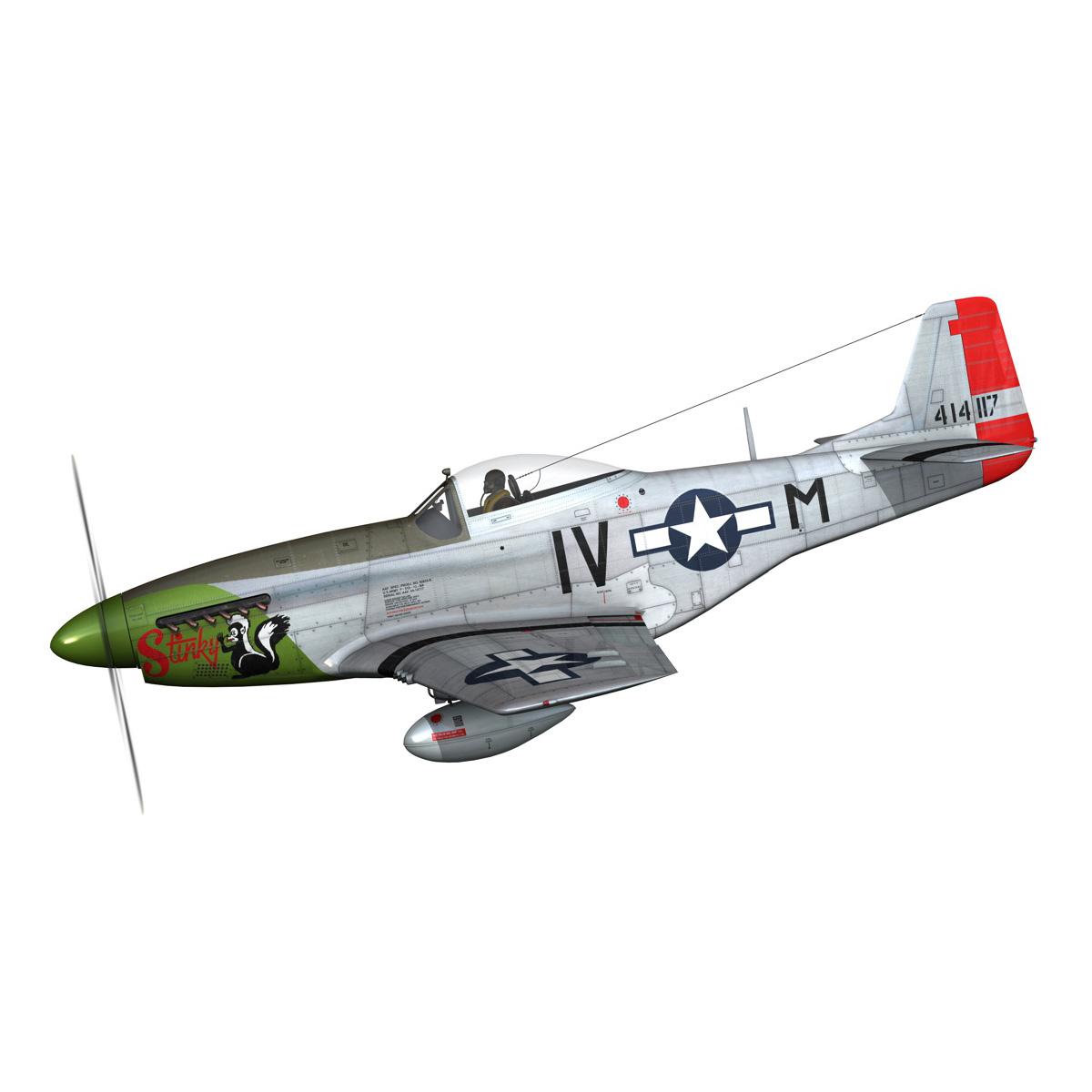 north american p-51d mustang – stinky 3d model fbx c4d lwo obj 269596