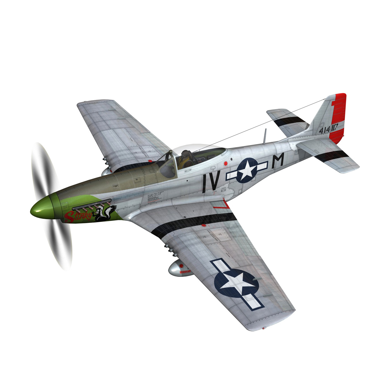 north american p-51d mustang – stinky 3d model fbx c4d lwo obj 269597