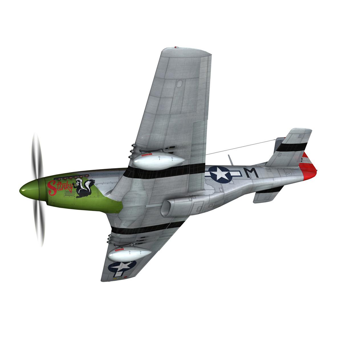 north american p-51d mustang – stinky 3d model fbx c4d lwo obj 269598