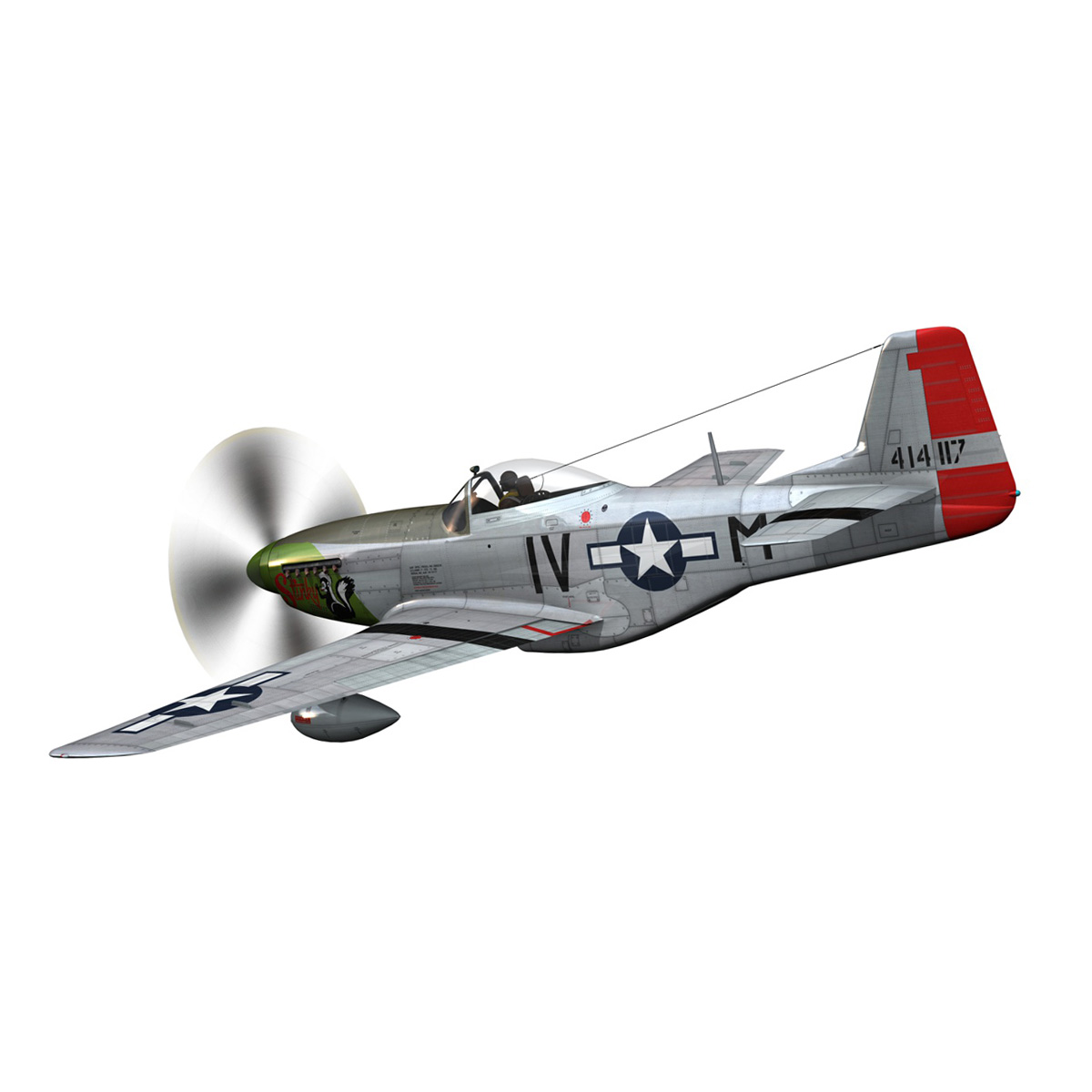 north american p-51d mustang – stinky 3d model fbx c4d lwo obj 269599