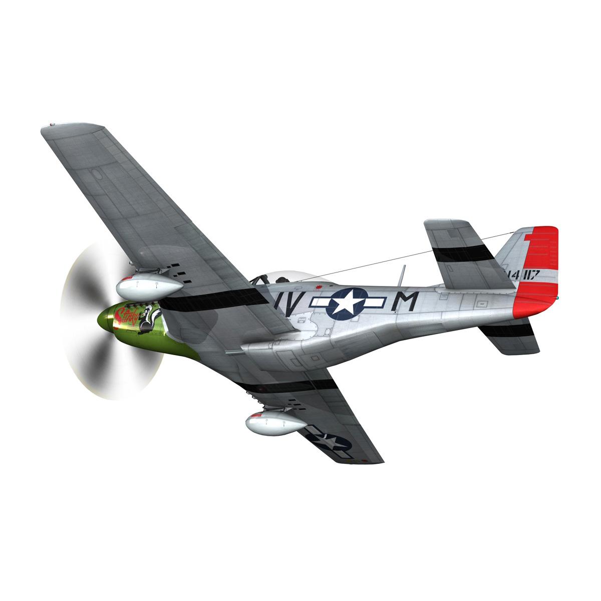 north american p-51d mustang – stinky 3d model fbx c4d lwo obj 269600