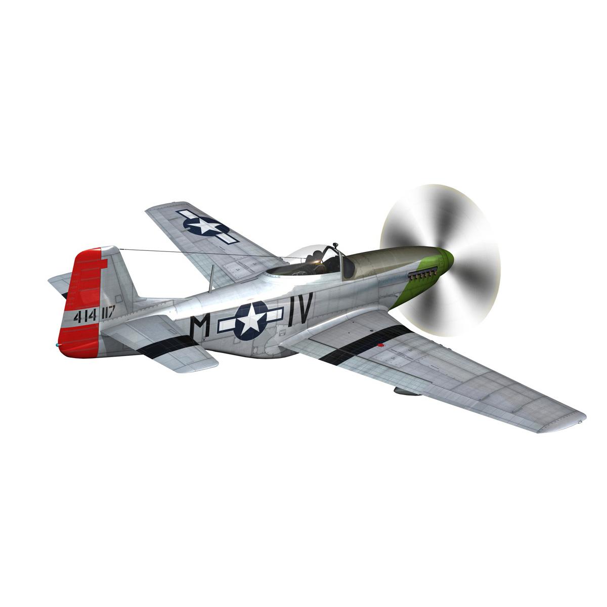 north american p-51d mustang – stinky 3d model fbx c4d lwo obj 269601