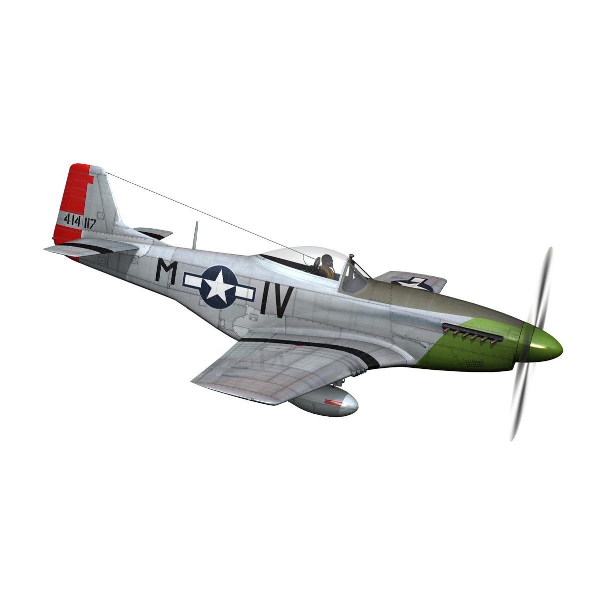 north american p-51d mustang – stinky 3d model fbx c4d lwo obj 269602