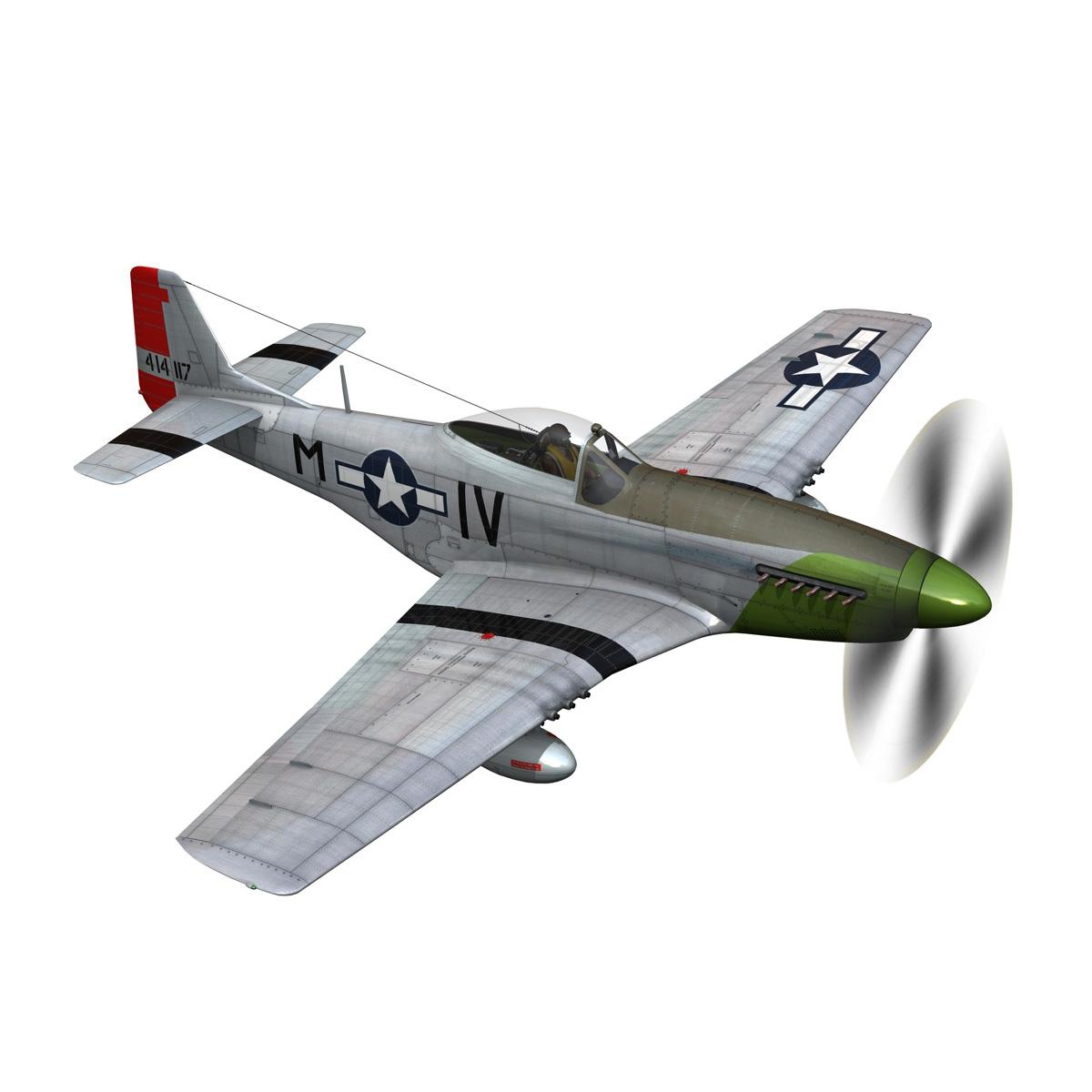 north american p-51d mustang – stinky 3d model fbx c4d lwo obj 269603