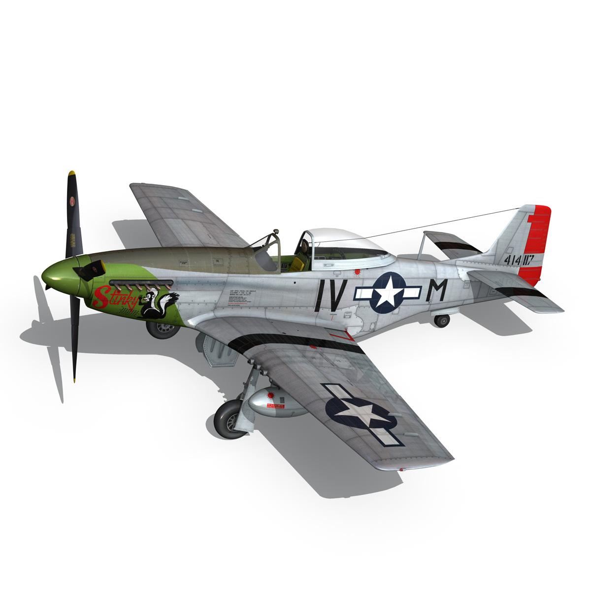 north american p-51d mustang – stinky 3d model fbx c4d lwo obj 269604