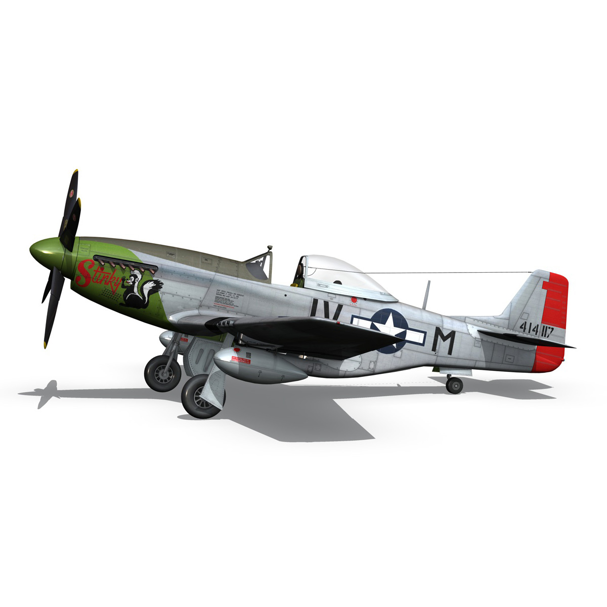 north american p-51d mustang – stinky 3d model fbx c4d lwo obj 269605