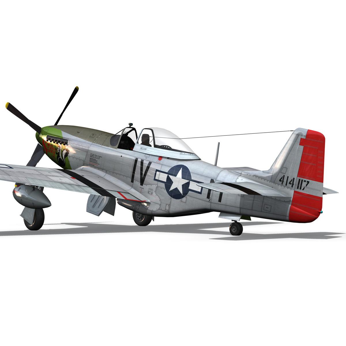 north american p-51d mustang – stinky 3d model fbx c4d lwo obj 269606