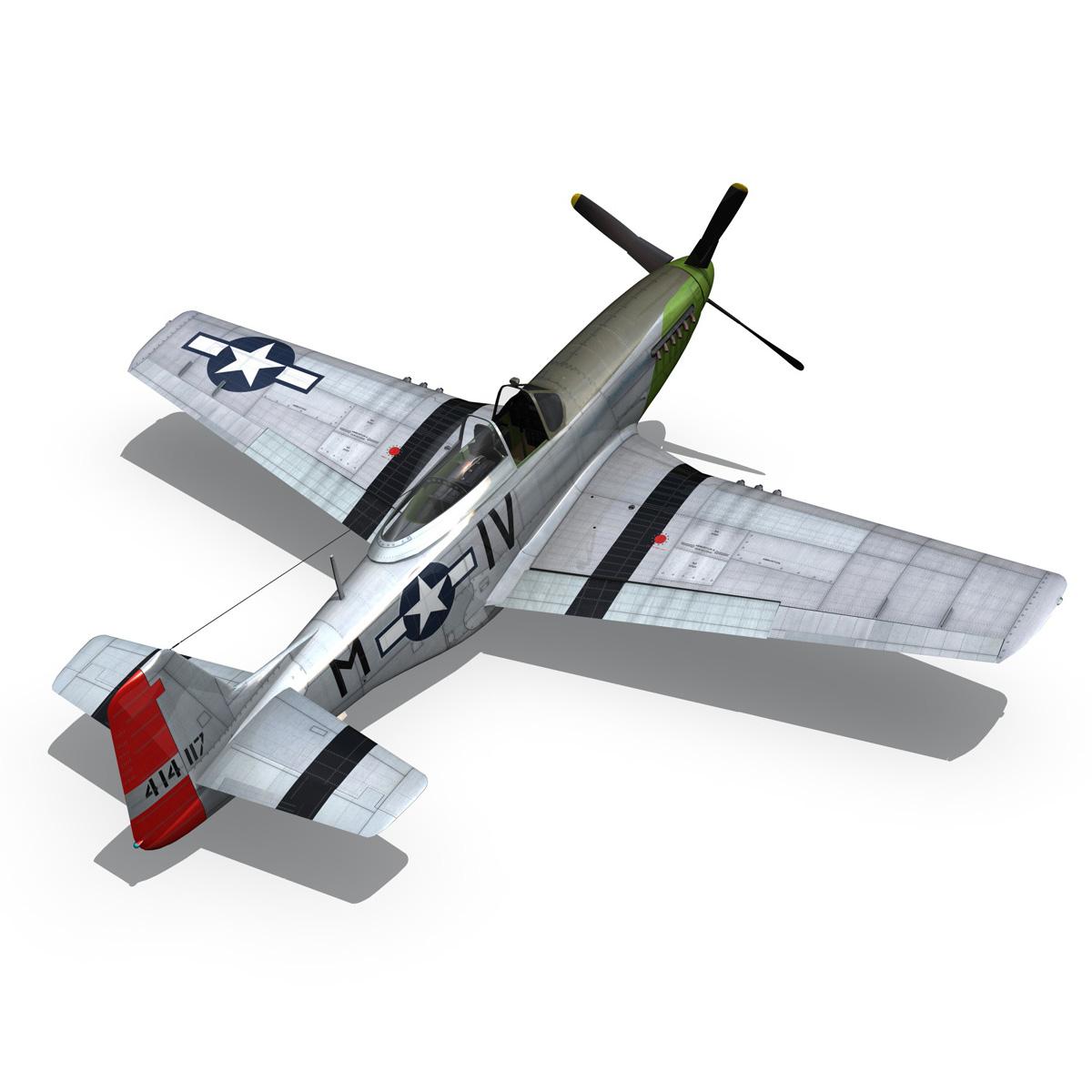 north american p-51d mustang – stinky 3d model fbx c4d lwo obj 269608