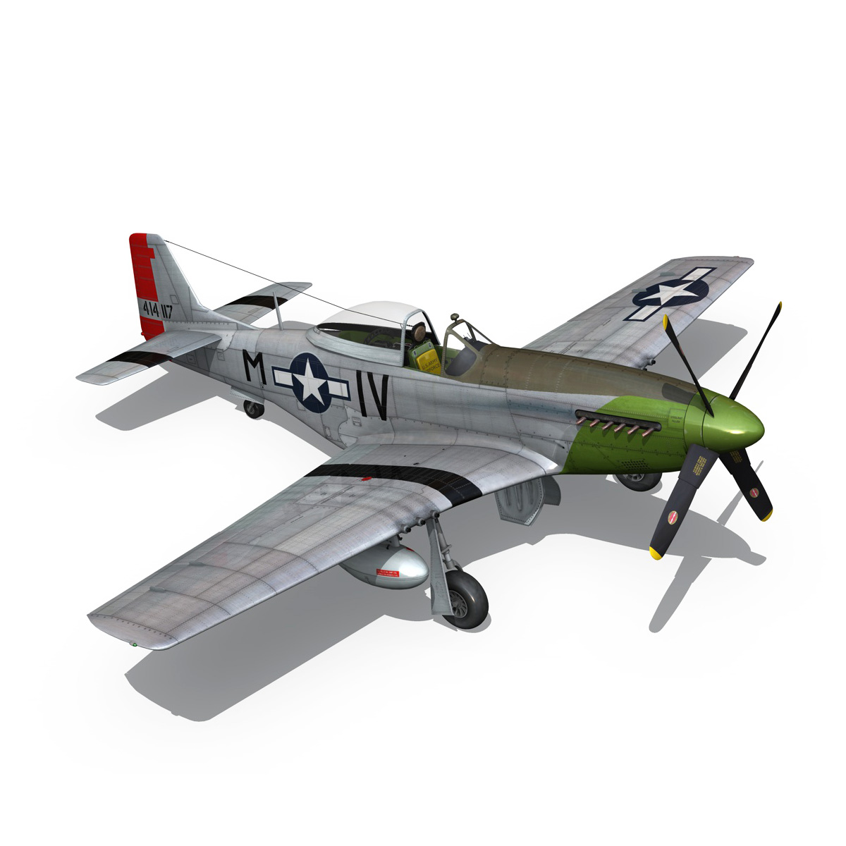 north american p-51d mustang – stinky 3d model fbx c4d lwo obj 269610