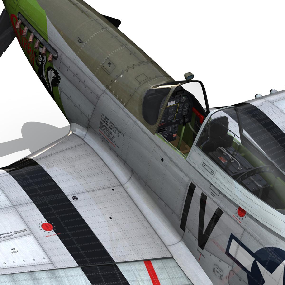 north american p-51d mustang – stinky 3d model fbx c4d lwo obj 269611