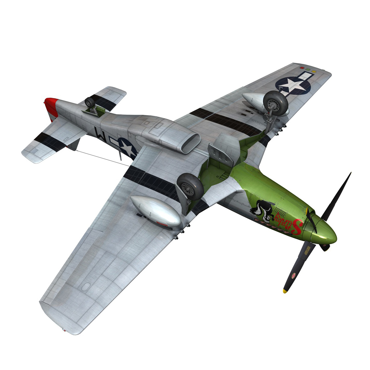 north american p-51d mustang – stinky 3d model fbx c4d lwo obj 269612
