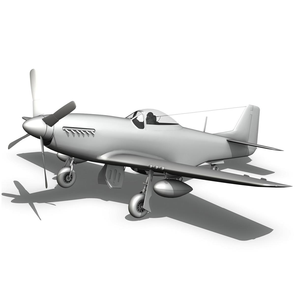 north american p-51d mustang – stinky 3d model fbx c4d lwo obj 269613