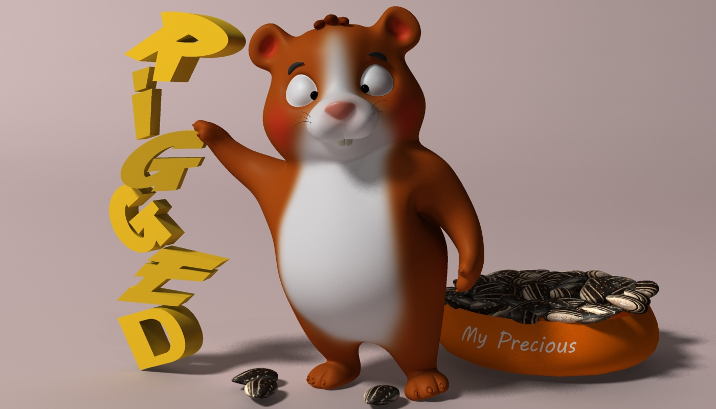 cartoon hamster rigged 2 3d model 3ds max fbx  obj 269683