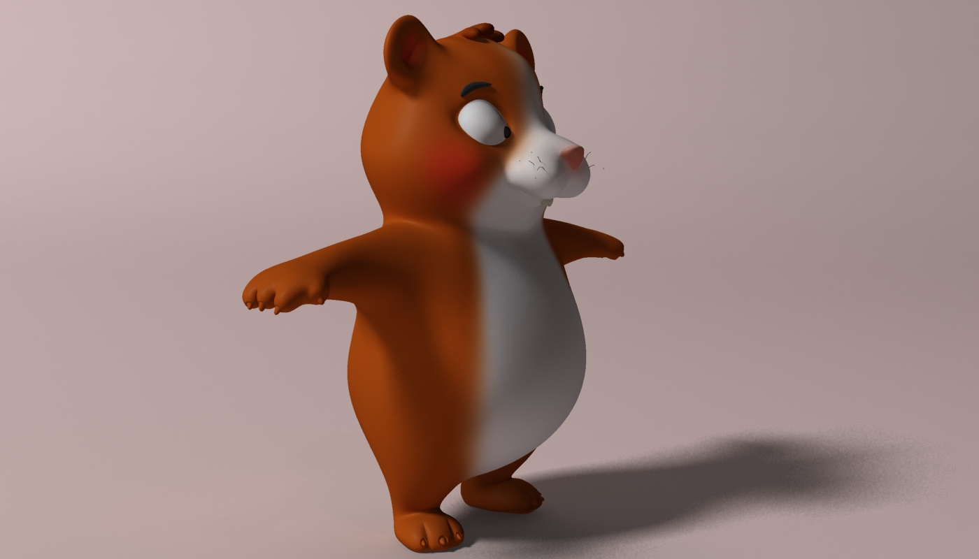 cartoon hamster rigged 2 3d model 3ds max fbx  obj 269686