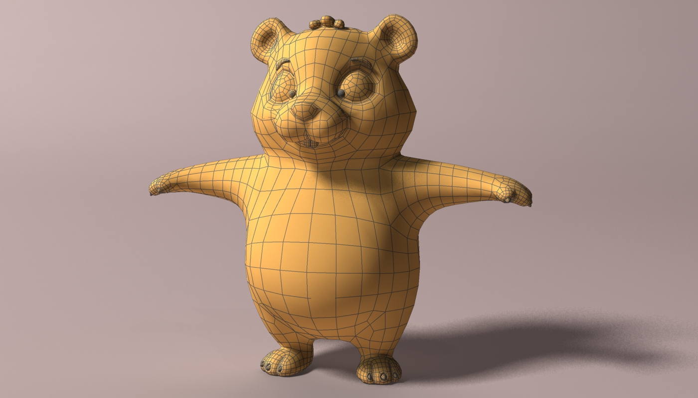 cartoon hamster rigged 2 3d model 3ds max fbx  obj 269688