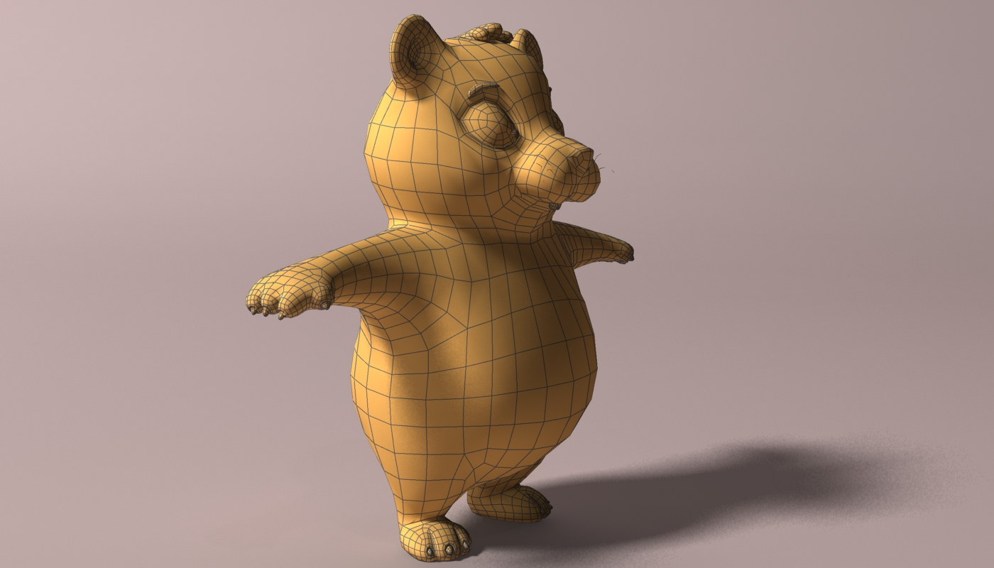 cartoon hamster rigged 2 3d model 3ds max fbx  obj 269689