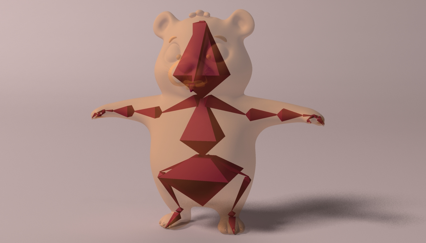 cartoon hamster rigged 2 3d model 3ds max fbx  obj 269691