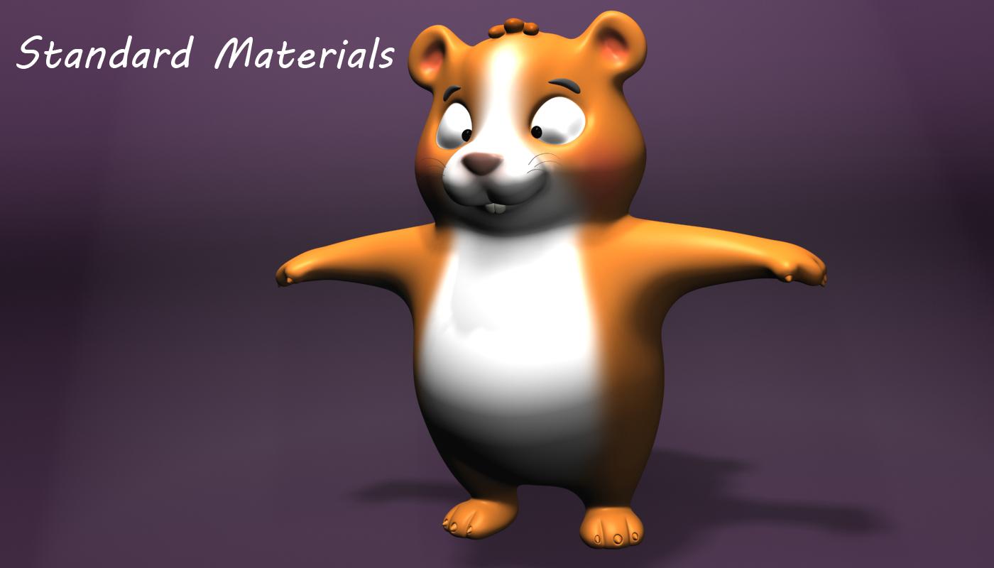 cartoon hamster rigged 3d model flatpyramid
