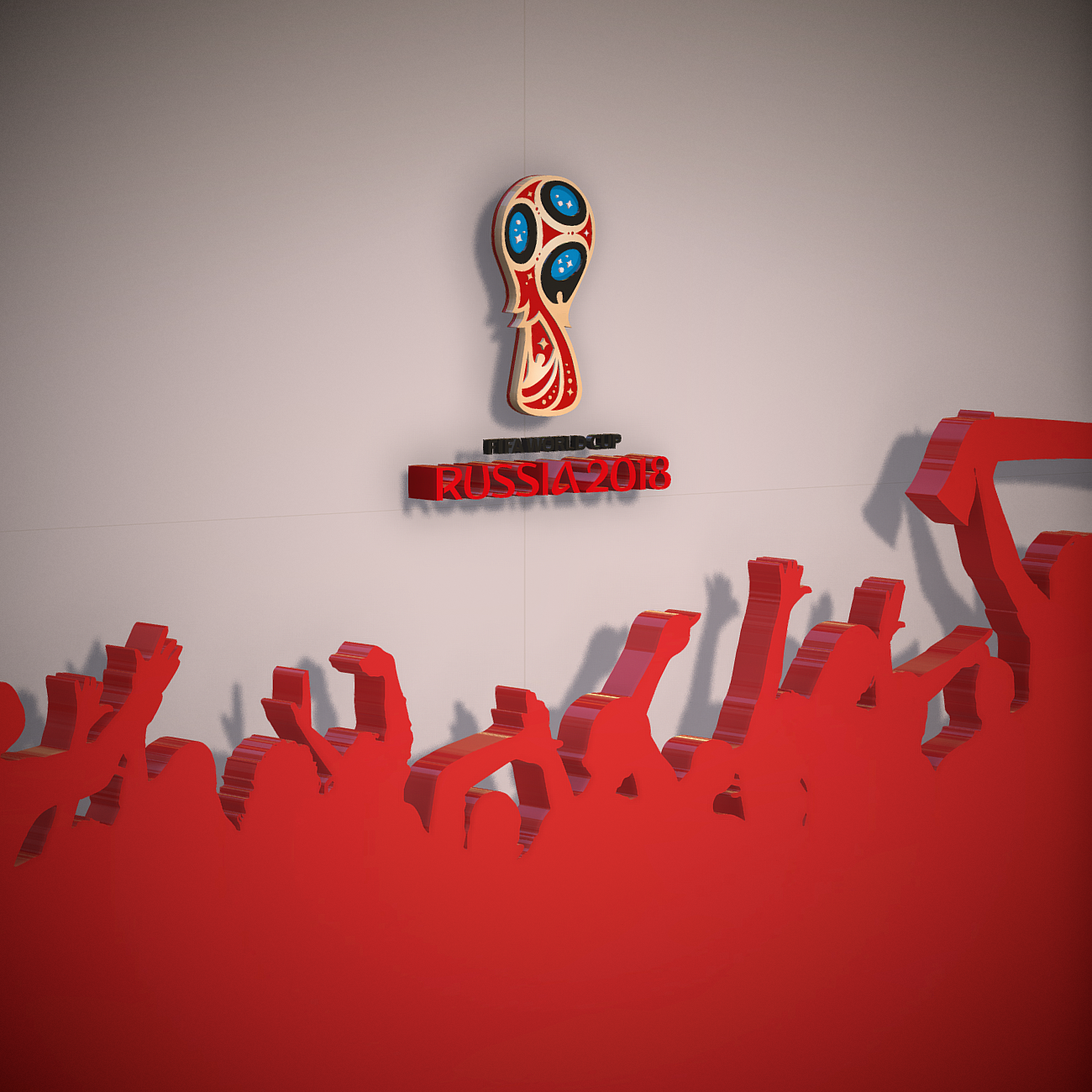 fifa world cup russia 2018 slyle 3d model 3ds max fbx ma mb obj 269742