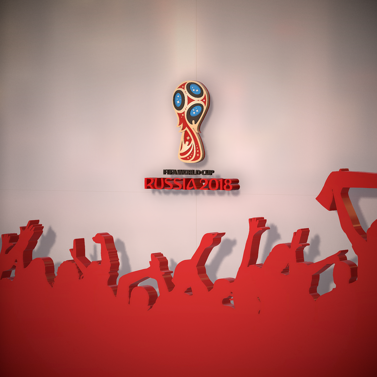 fifa world cup russia 2018 slyle 3d model 3ds max fbx ma mb obj 269745