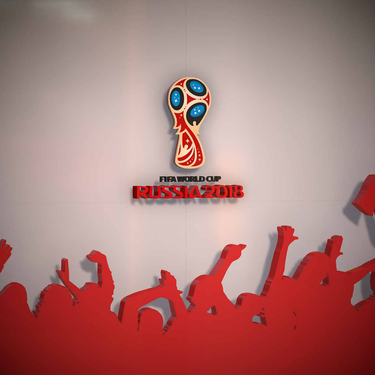 fifa world cup russia 2018 slyle 3d model 3ds max fbx ma mb obj 269746