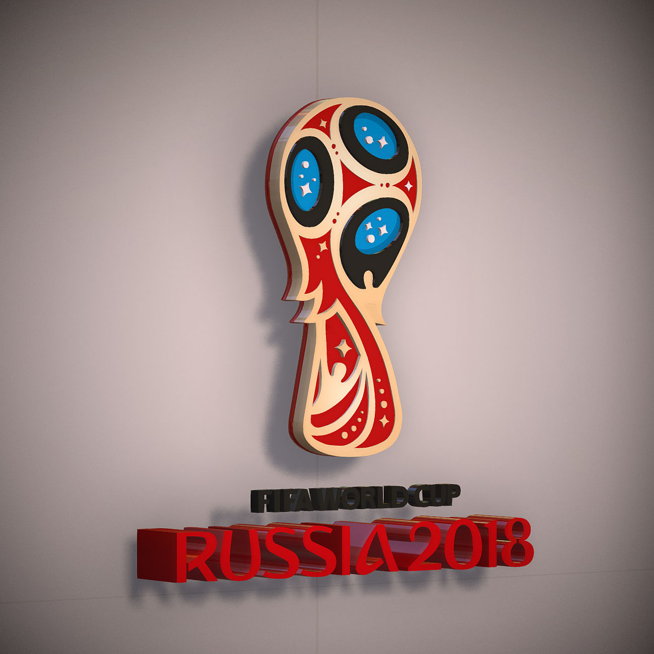 fifa world cup russia 2018 slyle 3d model 3ds max fbx ma mb obj 269747
