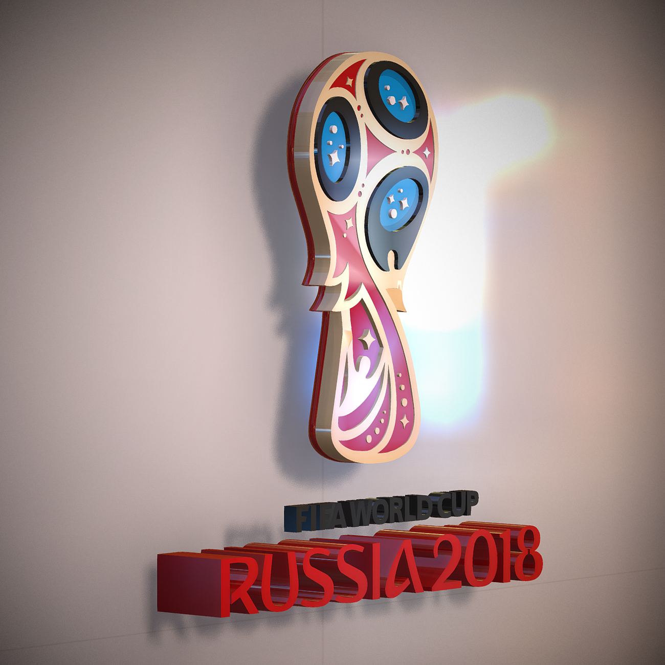 FIFA World Cup russia 2018 slyle 3d model 3ds max fbx ma mb obj 269748