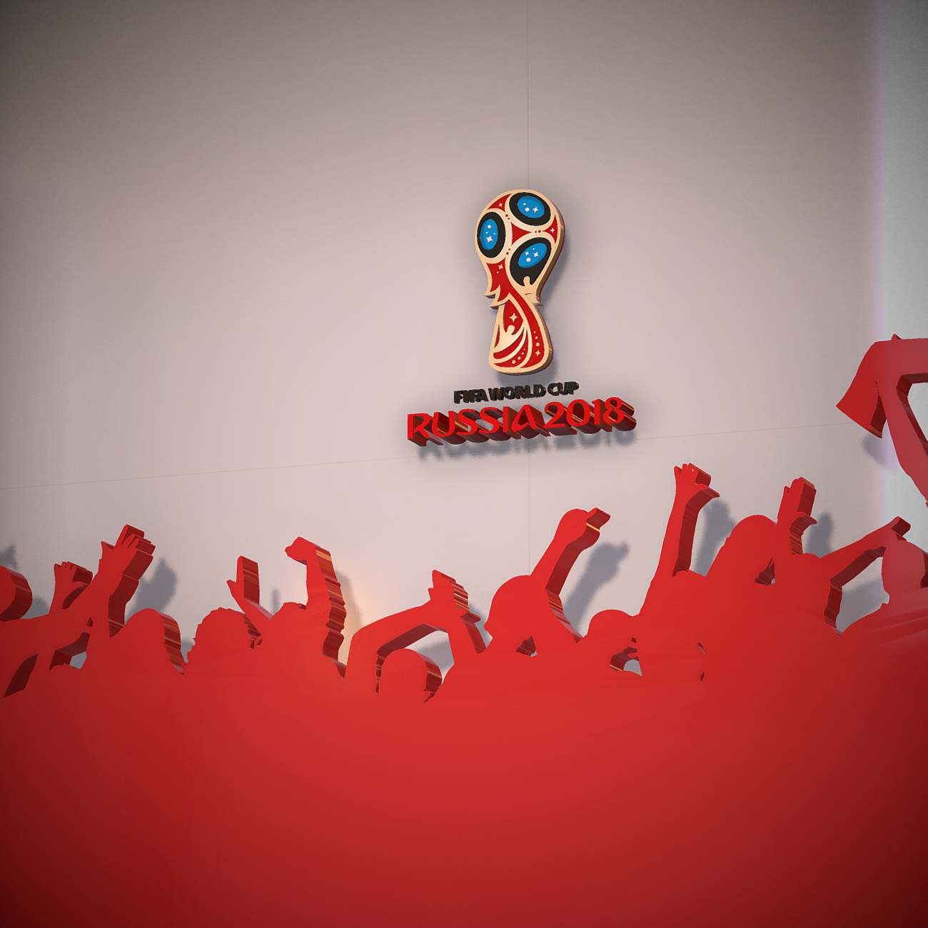 fifa world cup russia 2018 slyle 3d model 3ds max fbx ma mb obj 269749