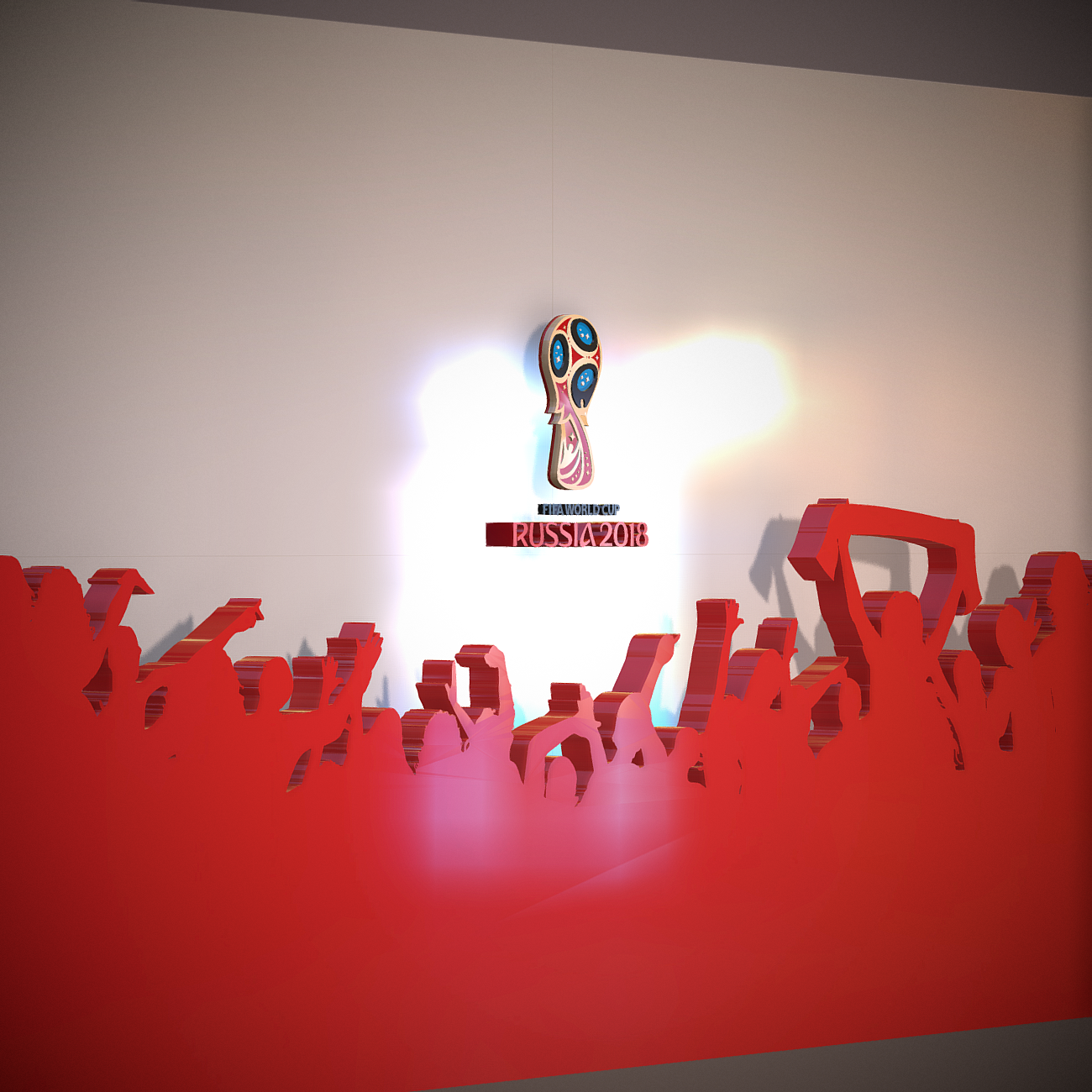 fifa world cup russia 2018 style 3d model 3ds max fbx jpeg jpg ma mb obj 269754