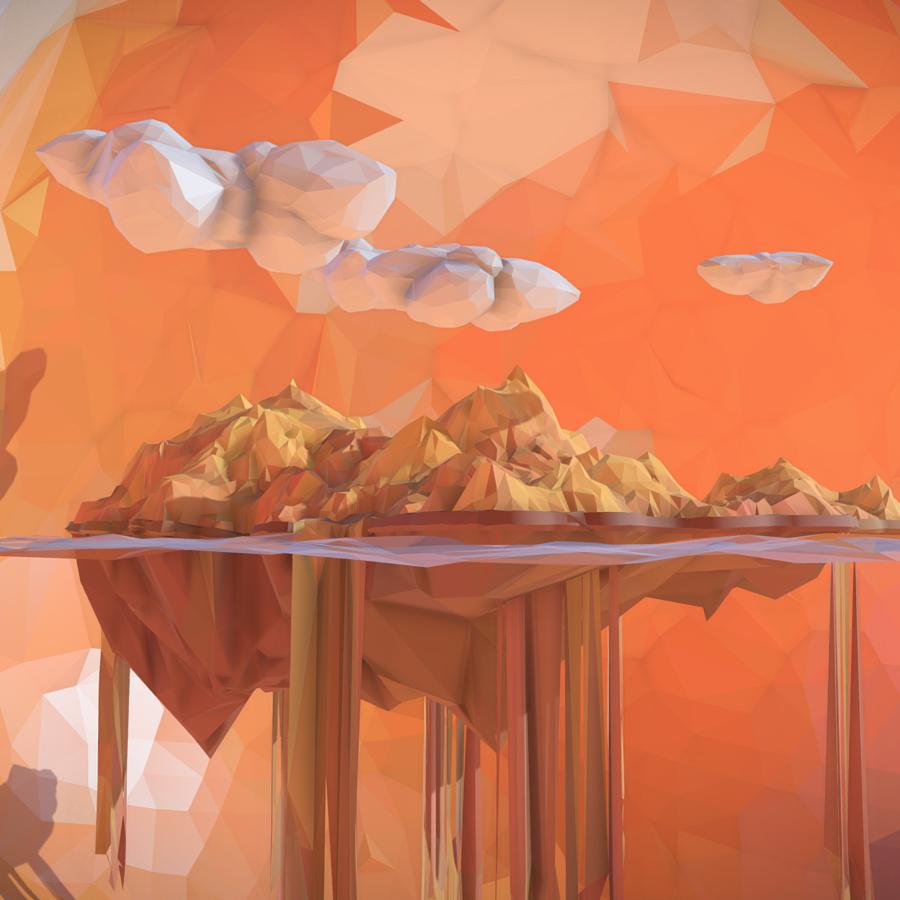 χαμηλό πολυγώνιο τέχνη άμμο καταρράκτη νησί βουνό 3d μοντέλο 3ds max fbx ma mb tga targa icb vda vst pix obj 269817