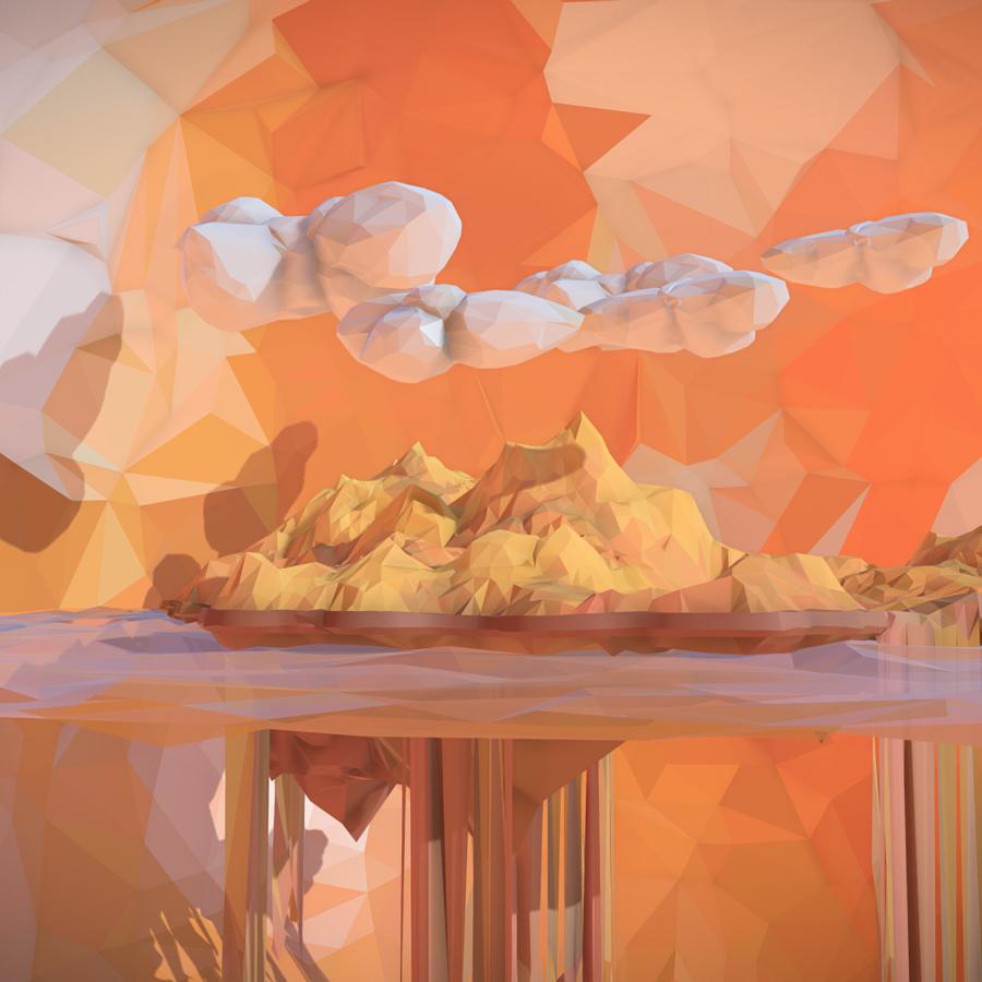 low polygon art sand waterfall island mountain 3d model 3ds max fbx ma mb tga targa icb vda vst pix obj 269818