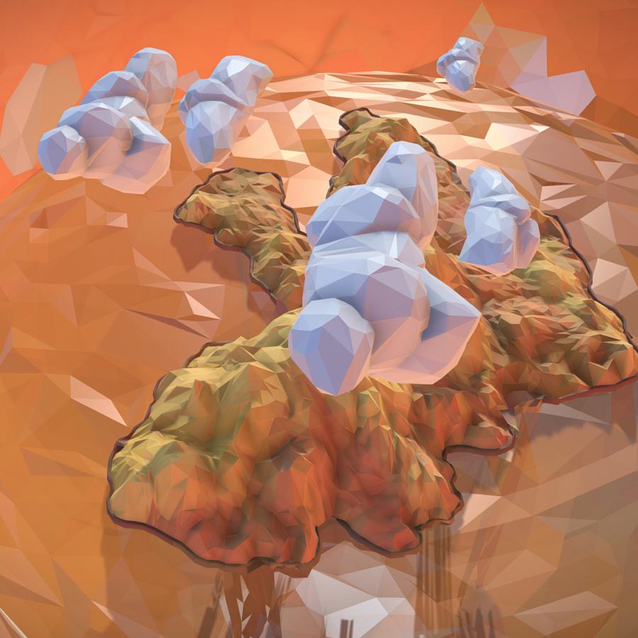 χαμηλό πολυγώνιο τέχνη άμμο καταρράκτη νησί βουνό 3d μοντέλο 3ds max fbx ma mb tga targa icb vda vst pix obj 269822